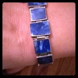 Jewelry - Vintage lapis link bracelet